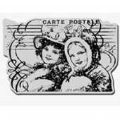 Stampendous - Postcard Pair - Cling Rubber Stamp - CRP131
